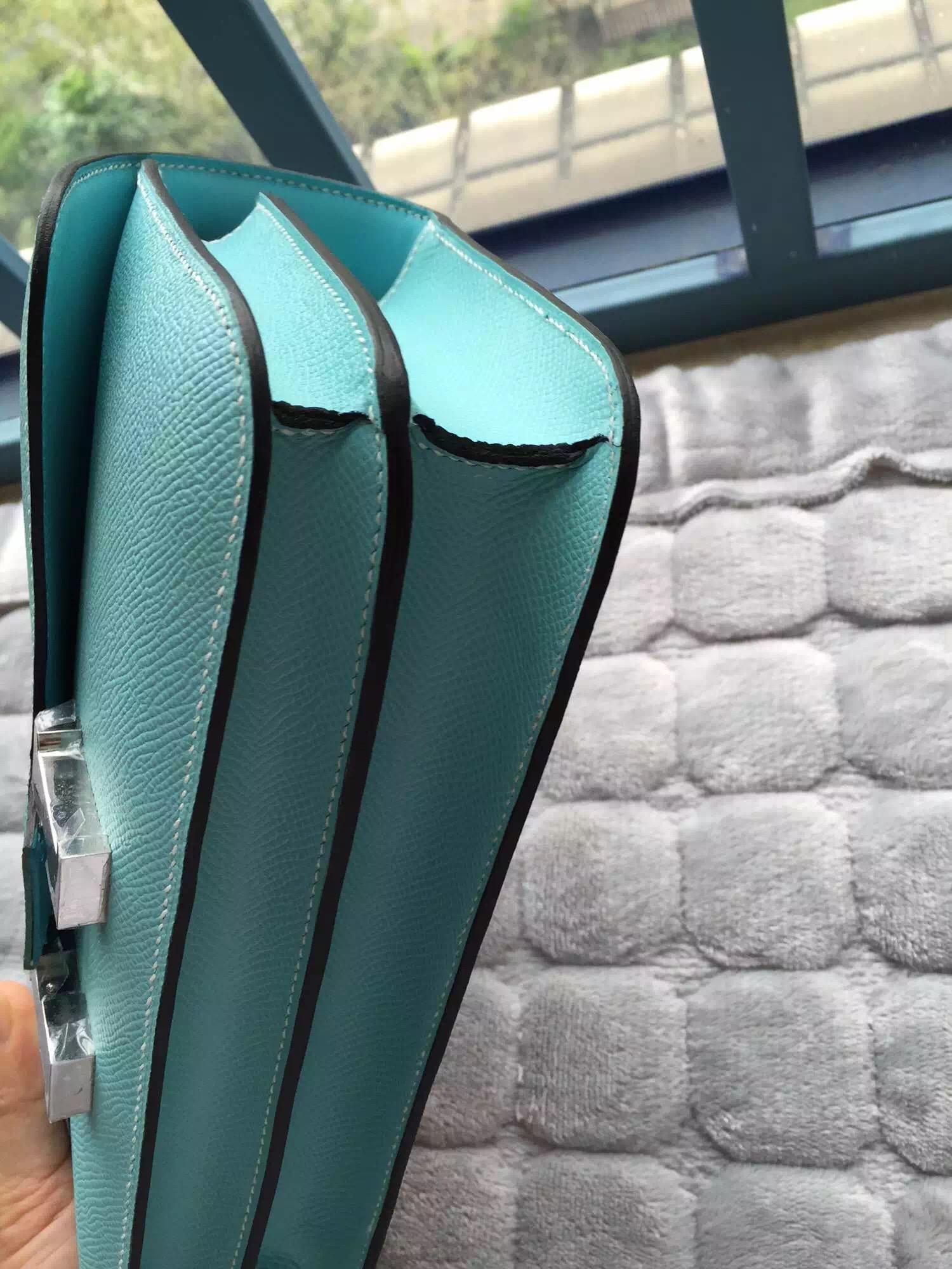 Wholesale Hermes Constance Bag 26CM Epsom Calfskin Leather Silver Hardware