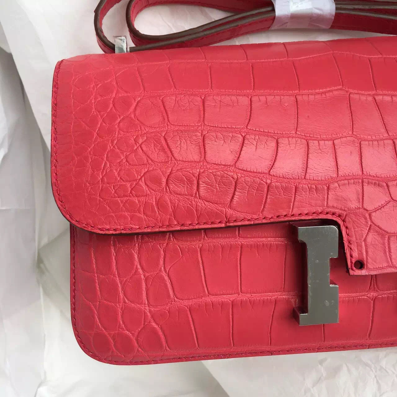 T5 Rose Jaipure Crocodile Skin Hermes Constance Elan 26CM Luxury Women's Bag