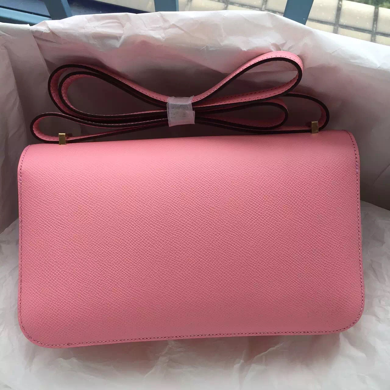 2015 Fashion New Hermes Constance Elan in 1Q Rose Confetti Epsom Leather Ladies' Bag