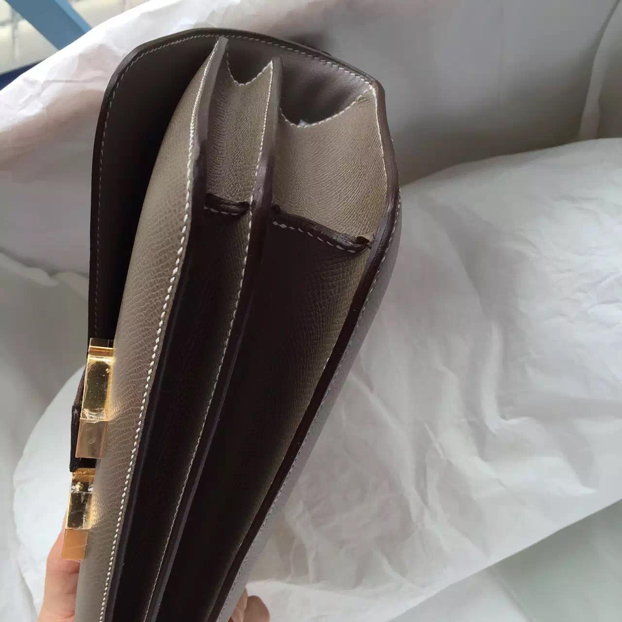 Discount C18 Etoupe Grey Epsom Leather Hermes Constance Bag Summer Message Bag