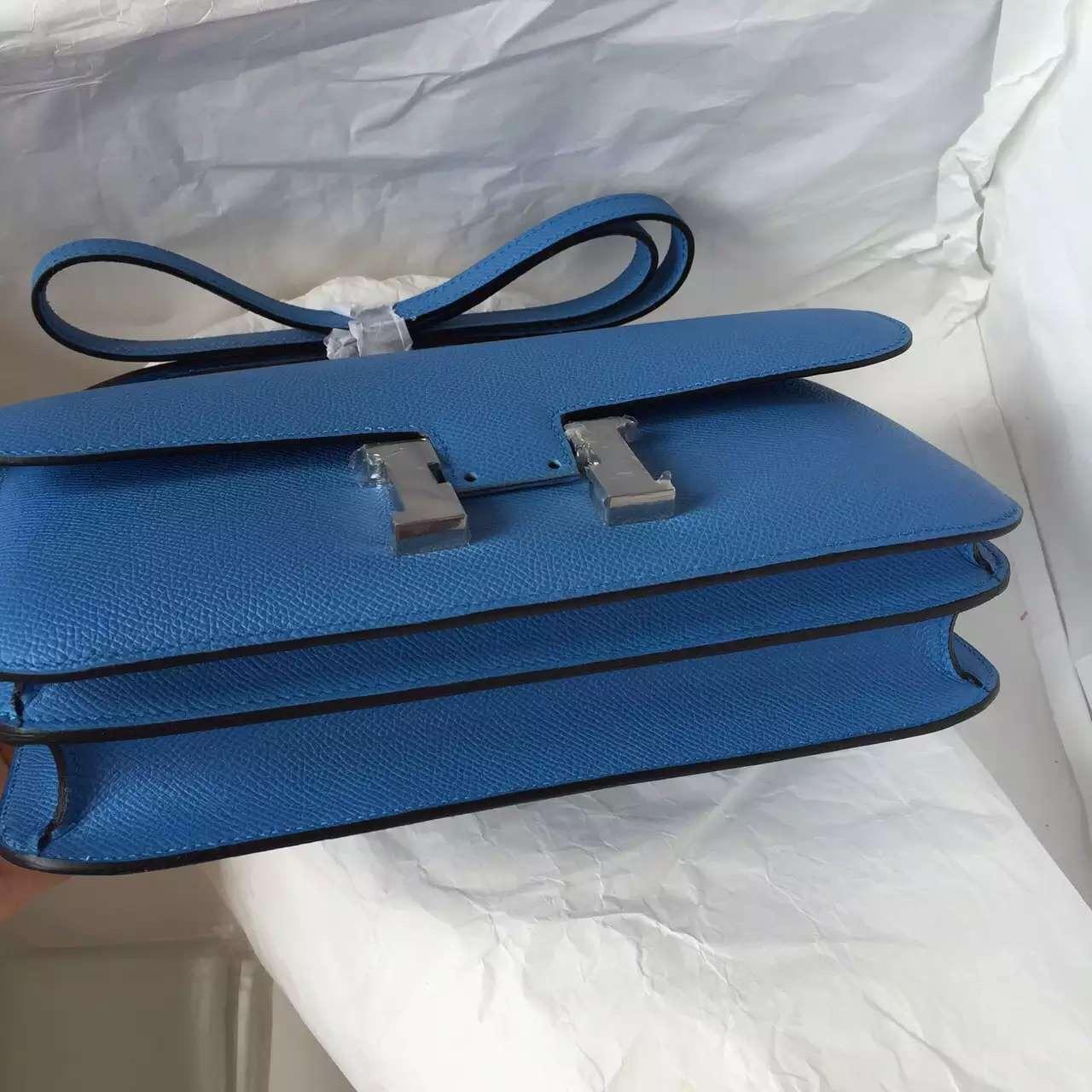 Discount Hermes Constance elan 26CM in 2T Blue Paradise Epsom Leather Shoulder Bag