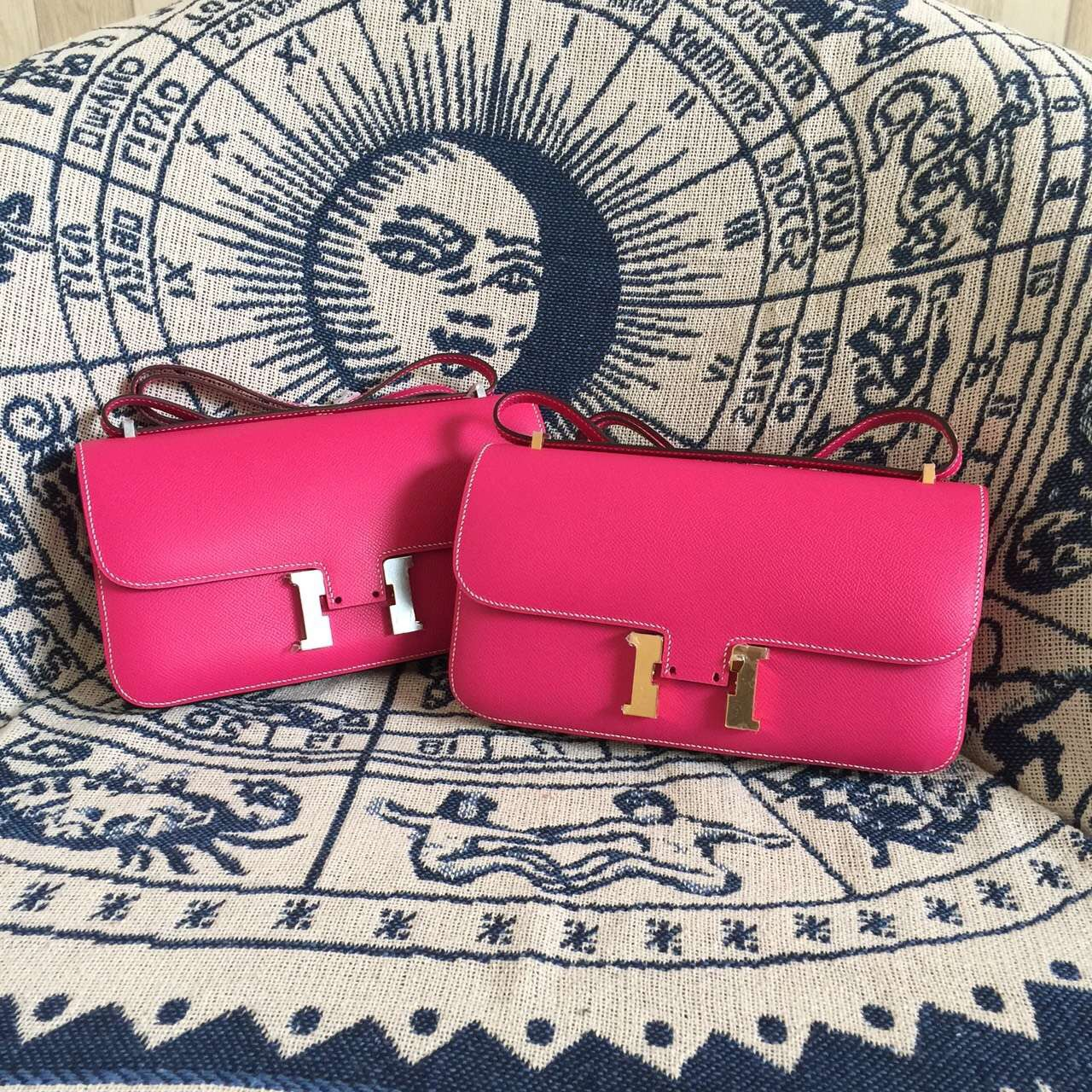 2015 New Fashion Hermes E5 Candy Pink Epsom Leather Constance Bag 26CM