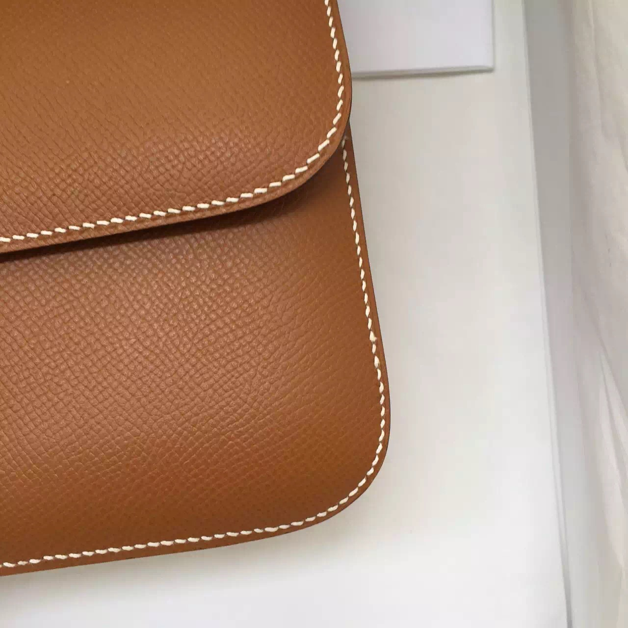 Cheap Hermes Constance Bag C37 Light Coffee Epsom Leather Ladies' Shoulder Bag