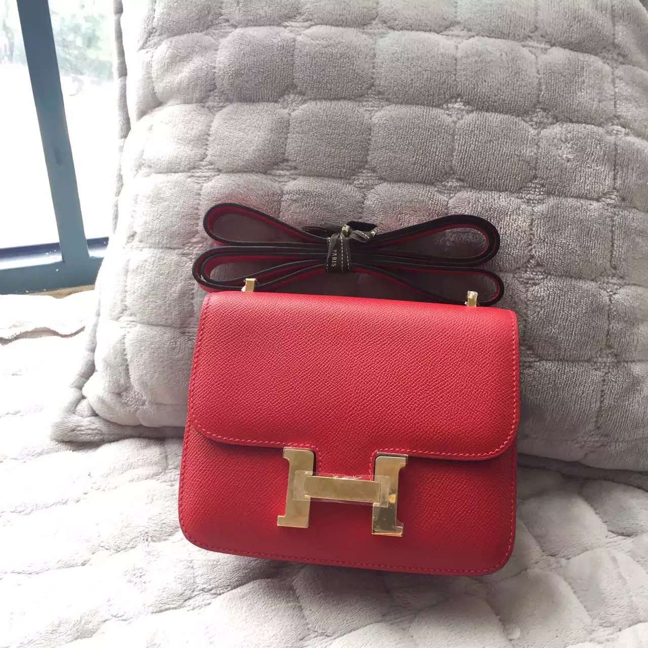 2015 New Fashion Hermes Epsom Leather Mini Constance Bag Multi Color Women's Handbag