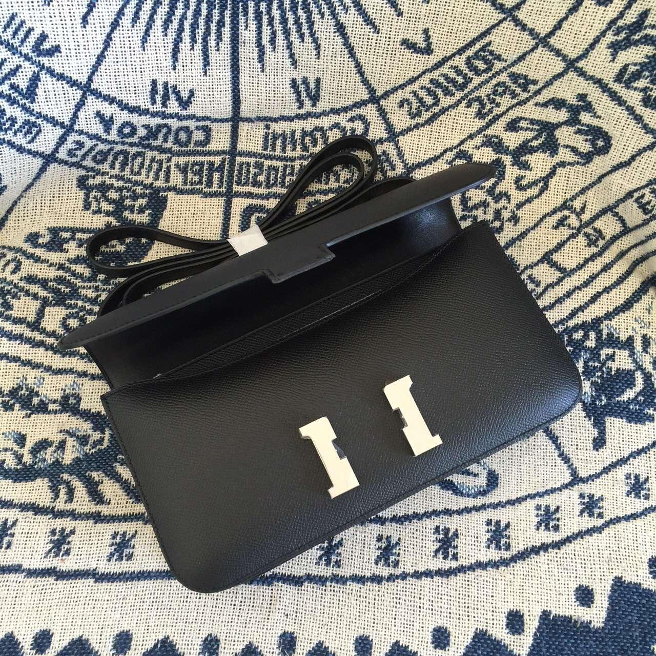 Disount Hermes Constance26 Bag 89 Black Epsom Calfskin Leather