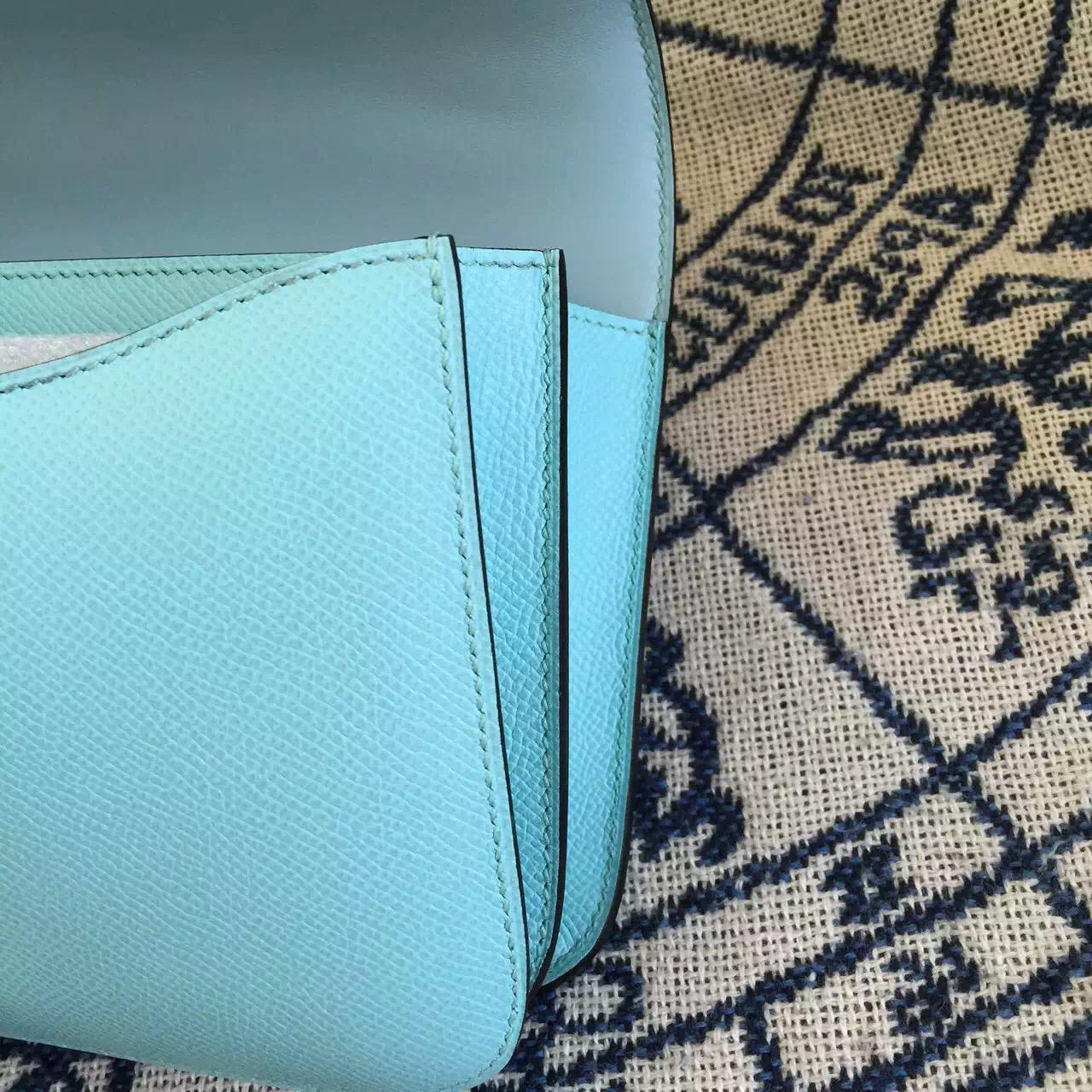 Hermes Constance Bag26cm 3P Lagon Blue Epsom Calfskin Lizard buckle