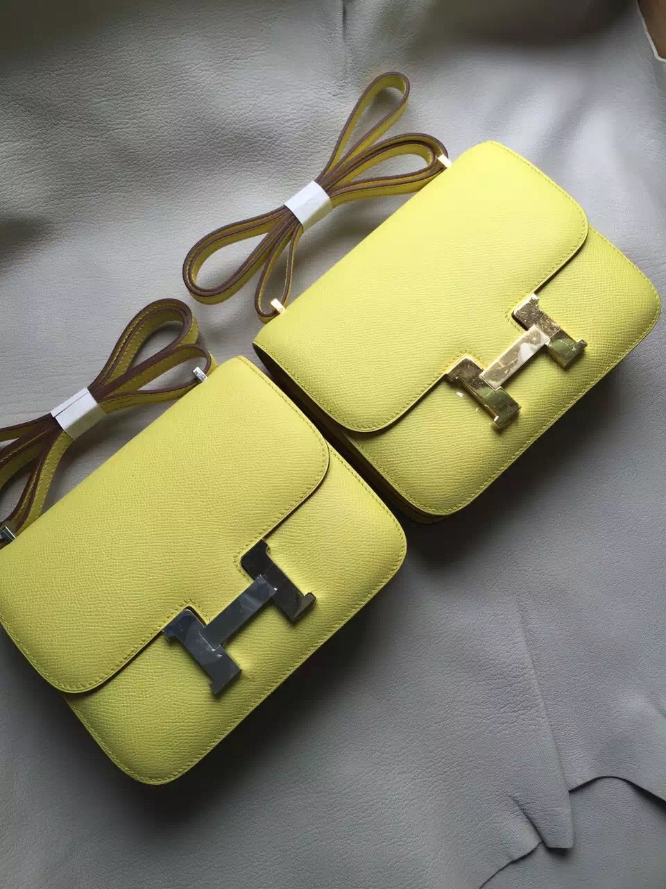 Wholesale Hermes Constance Bag 18cm C9 Yellow Epsom Leather
