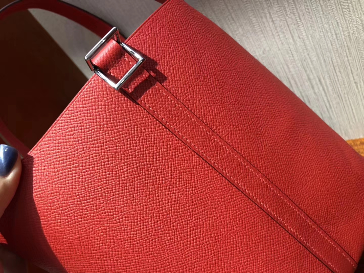 New Hermes Knitted Handle Picotin Bag22CM in S3 Rose De Coeur Epsom Calf