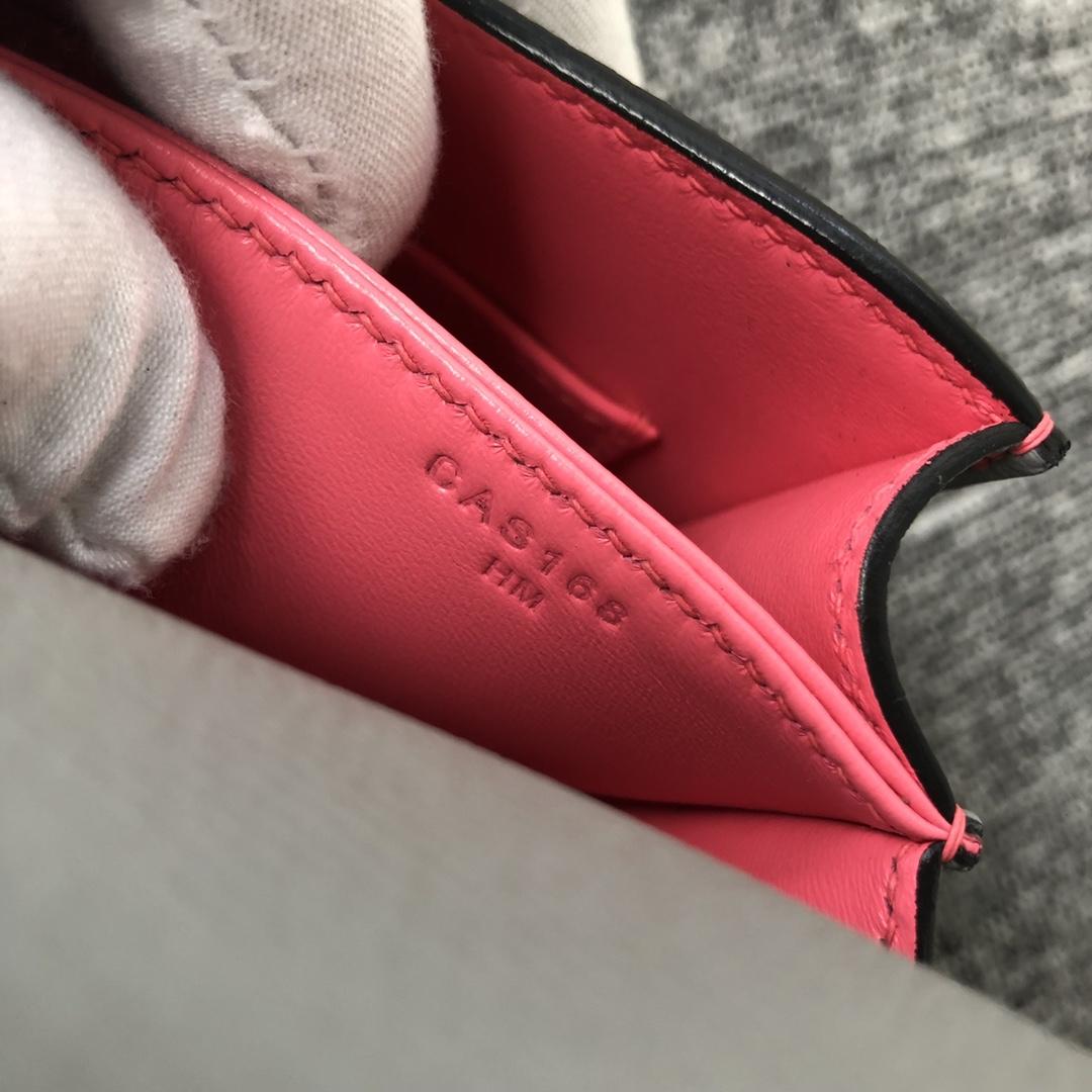 Customize Hermes 8U Blue Glacier/Rose Lipstick inner Epsom Constance18CM Bag