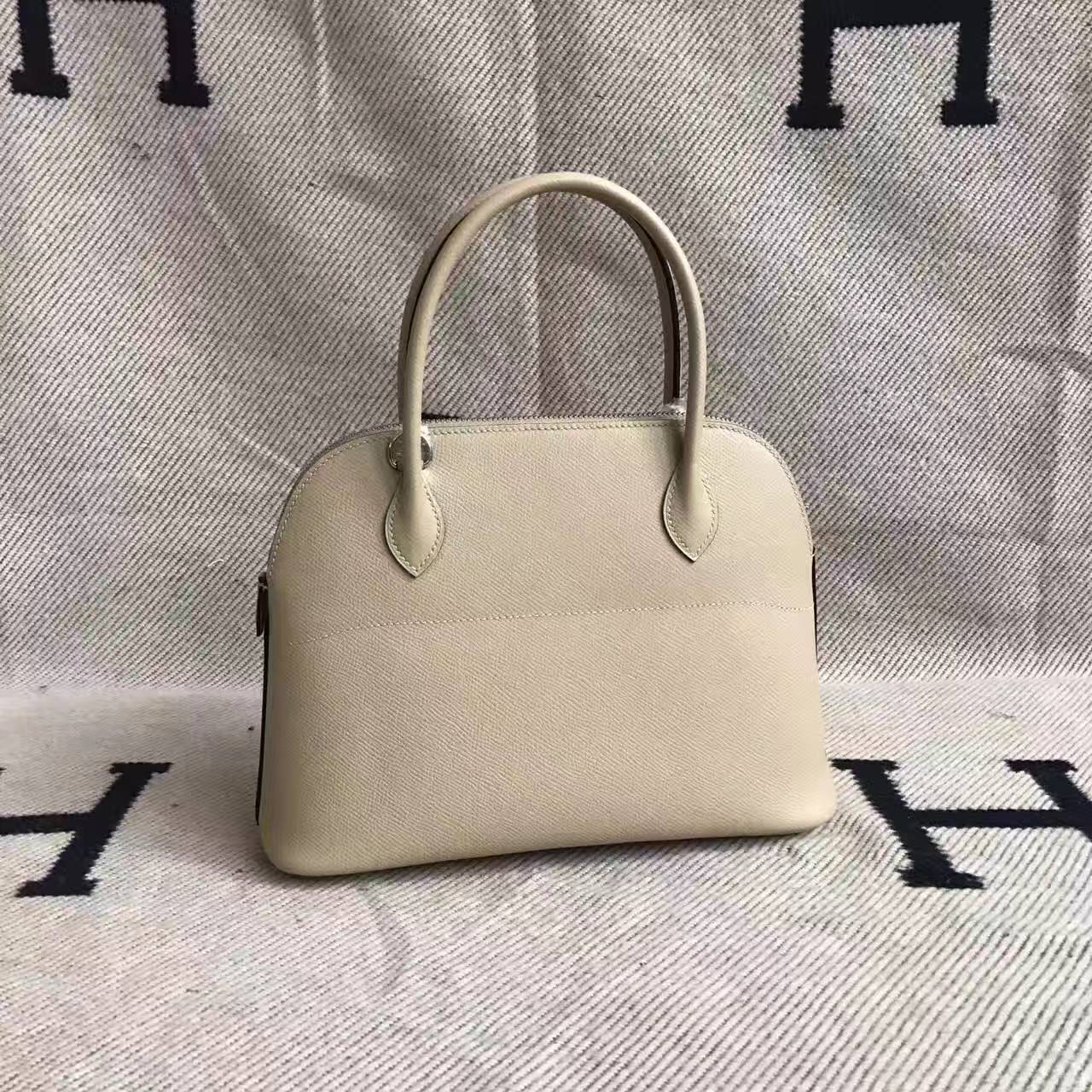 High Quality Hermes Bolide Bag 27cm in  S2 Trench Grey Epsom Leather