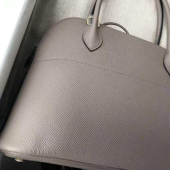 Sale Hermes M8 Gris Ashpite Epsom Calf Bolide Bag27CM Gold Hardware
