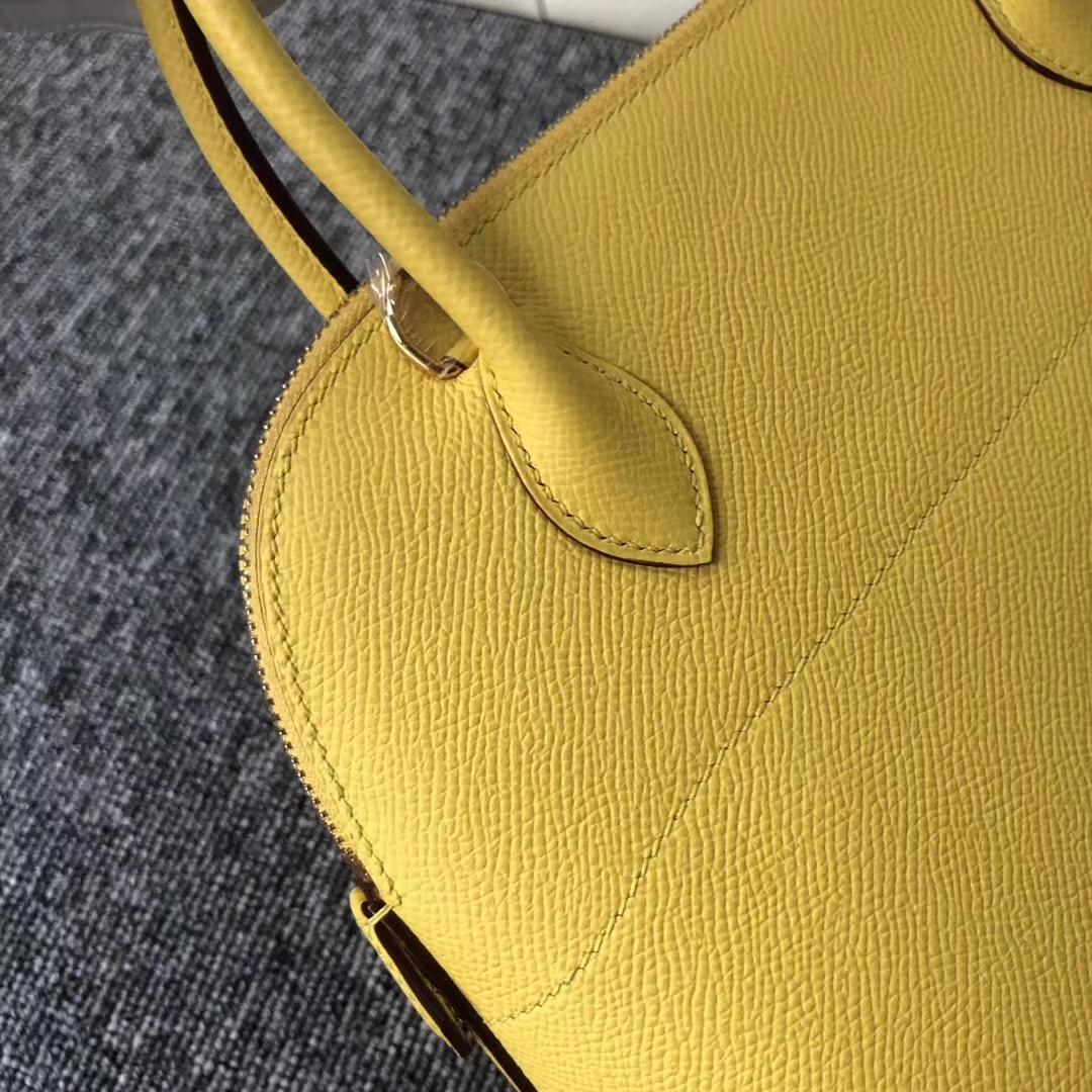 Stock Hermes 9oJaune de Naples Epsom Calf Bolide27CM Tote Bag Gold Hardware