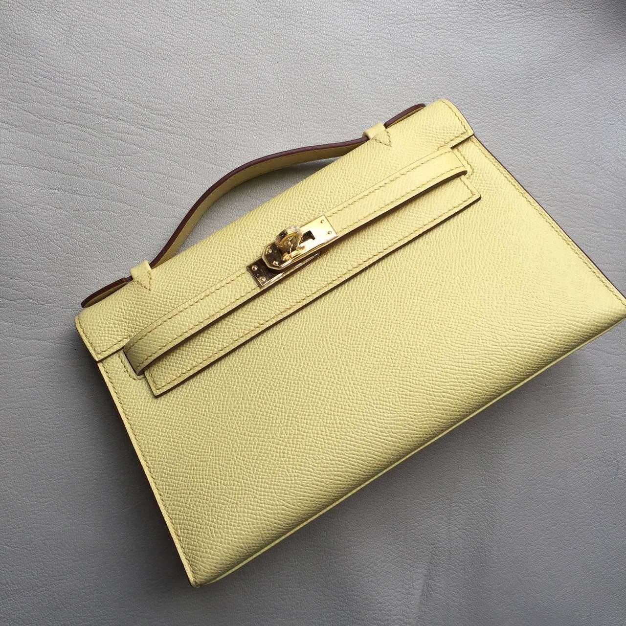 Hermes 1Z Jaine Poessin Epsom Leather Mini Kelly Bag 22CM