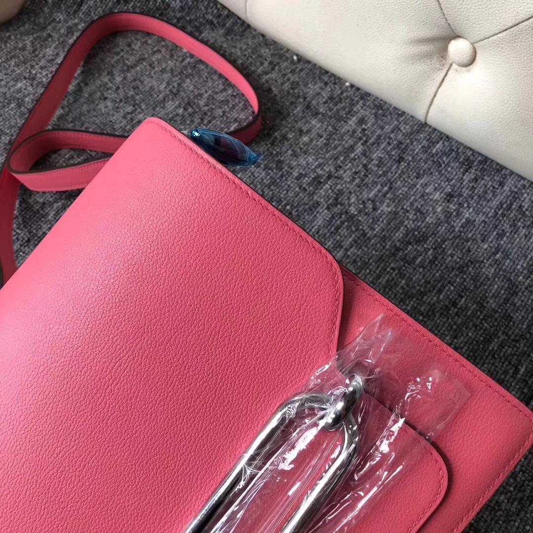 Wholesale Hermes 8W Rose Azalee Evecolor Roulis24CM Shoulder Bag