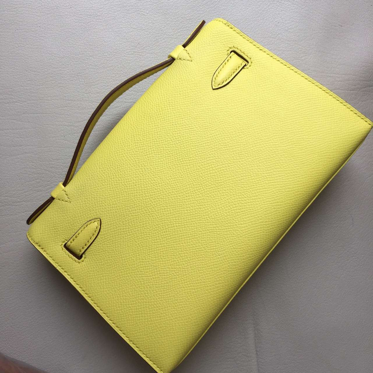 Discount Hermes Lemon Yellow Epsom Calfskin Leather Mini Kelly Bag 22CM