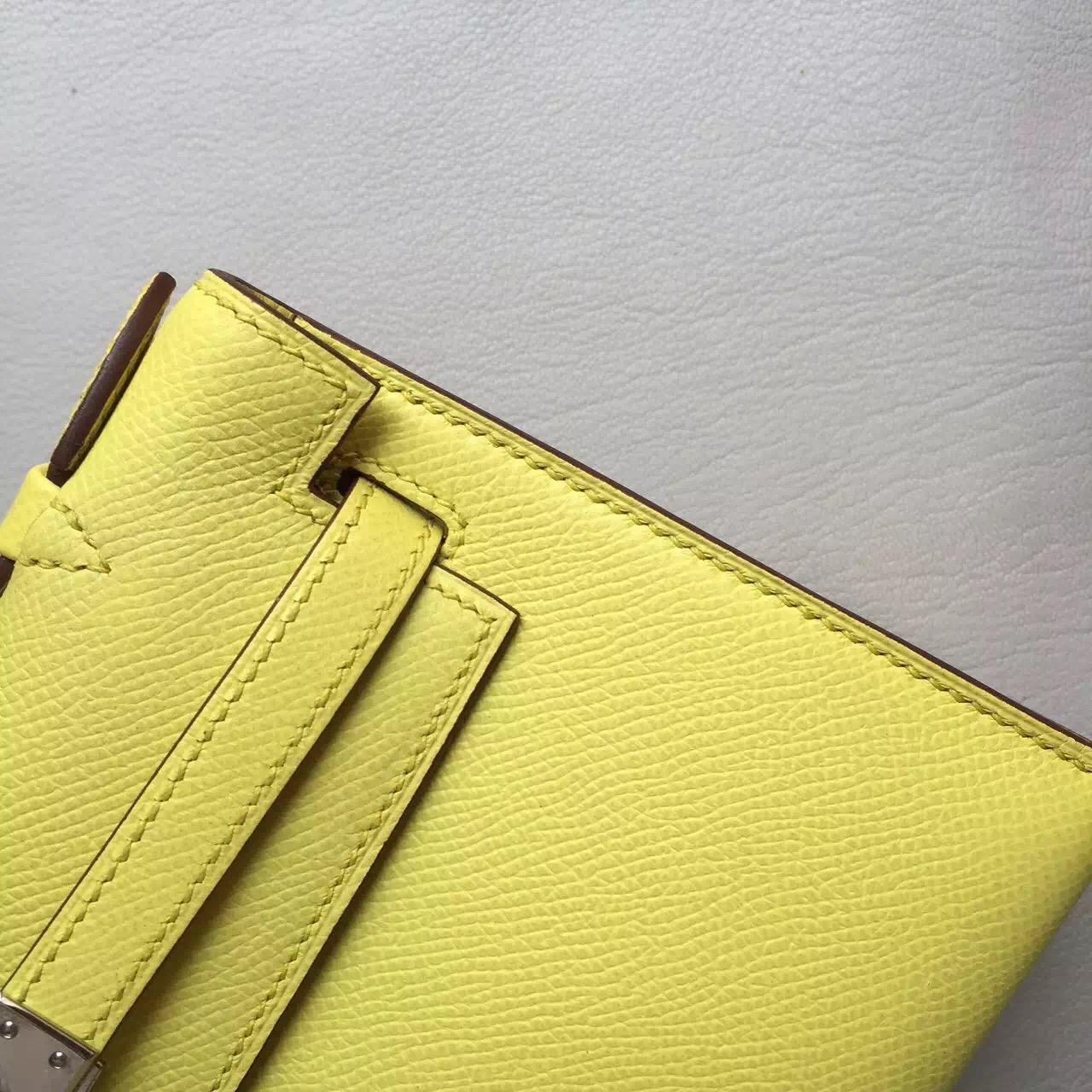Discount Hermes Lemon Yellow Epsom Calfskin Leather Mini Kelly Bag 22CM