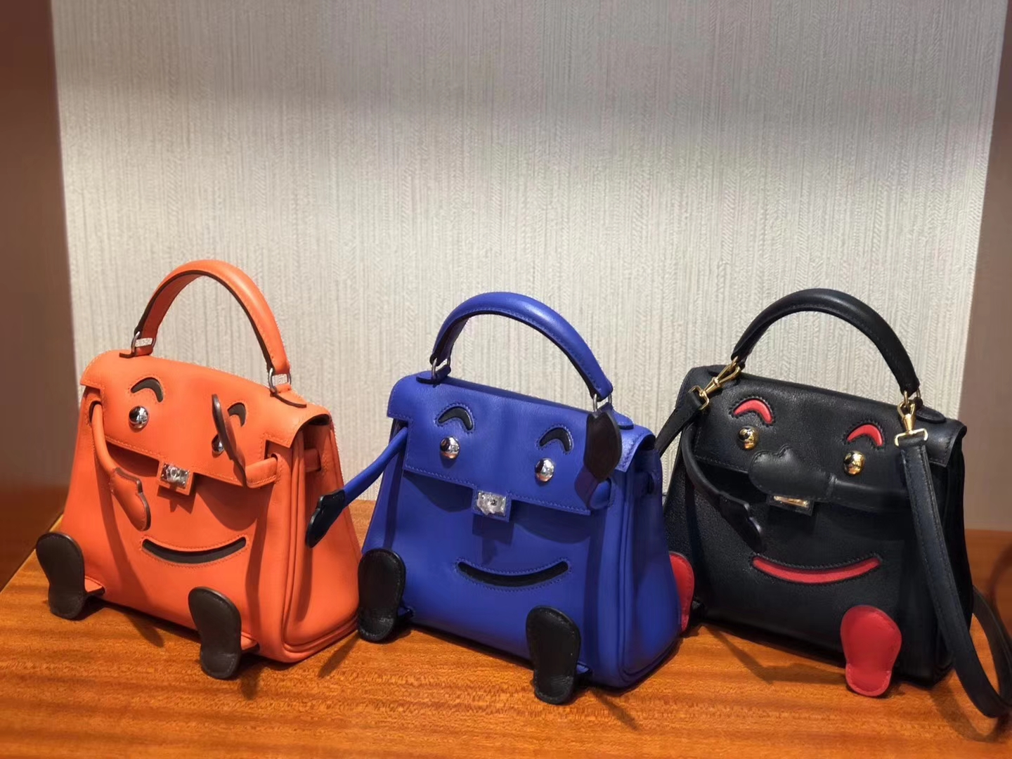 Lovely Hermes Multi-color Swift Calf Leather Kell Doll Tote Bag