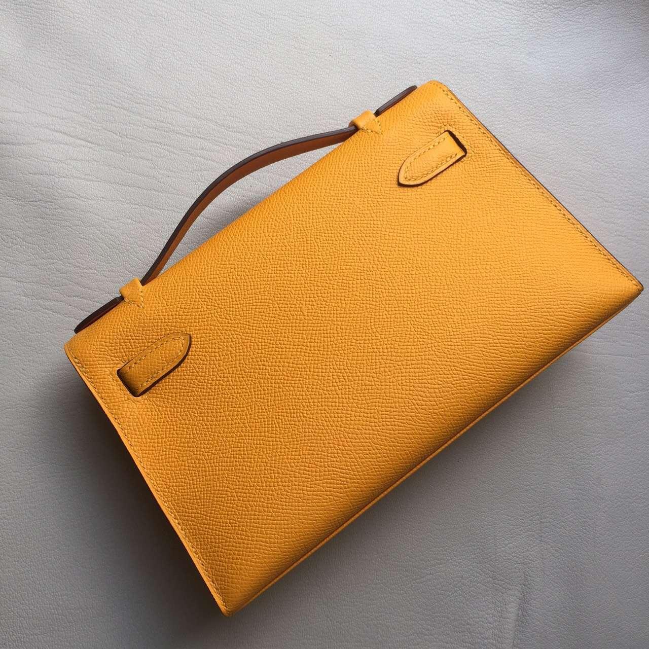 Hermes Bag Website 9V Sun Yellow Epsom Leather Mini Kelly Bag 22cm