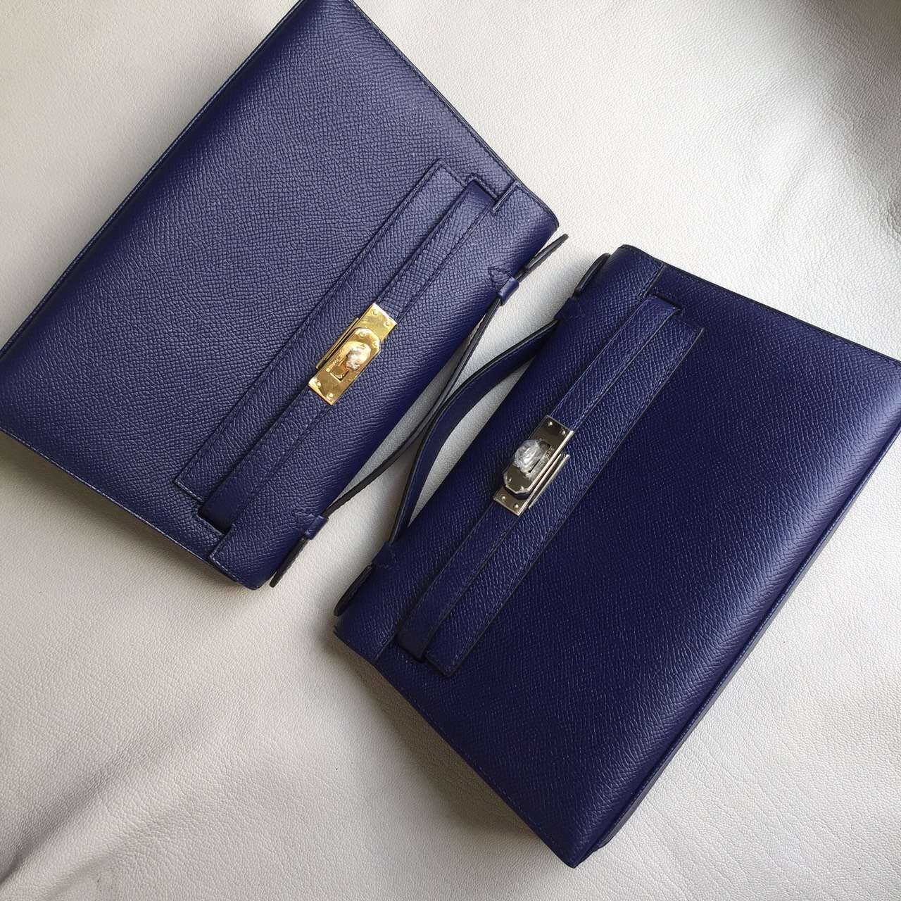 On Line Hermes 73 Blue Saphir Epsom Leather Minikelly Pochette Bag22cm