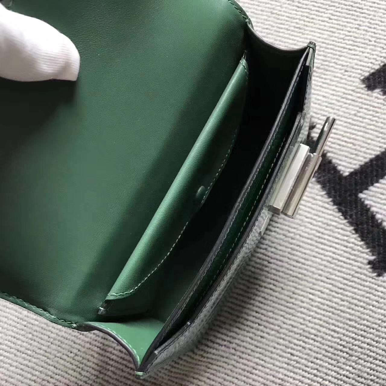 Wholesale Hermes Crocodile Shiny Leather VerrouBag in Green