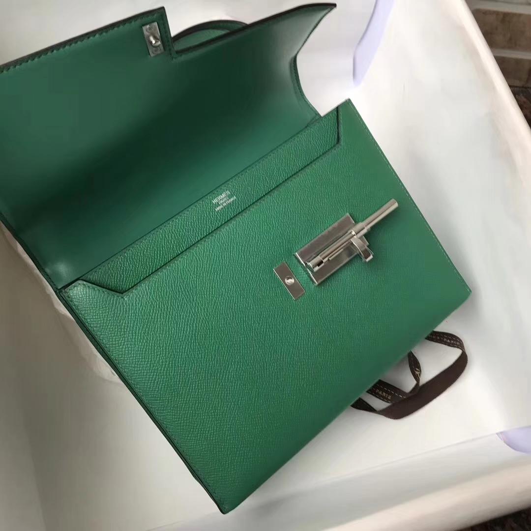 Fashion Hermes VerrouBag U4 Mint Green Epsom Calfskin Shoulder Bag21cm