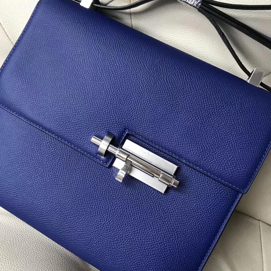 Discount Hermes 7T Blue Eletric Epsom Calf Verrou21CMBag Shoulder Bag