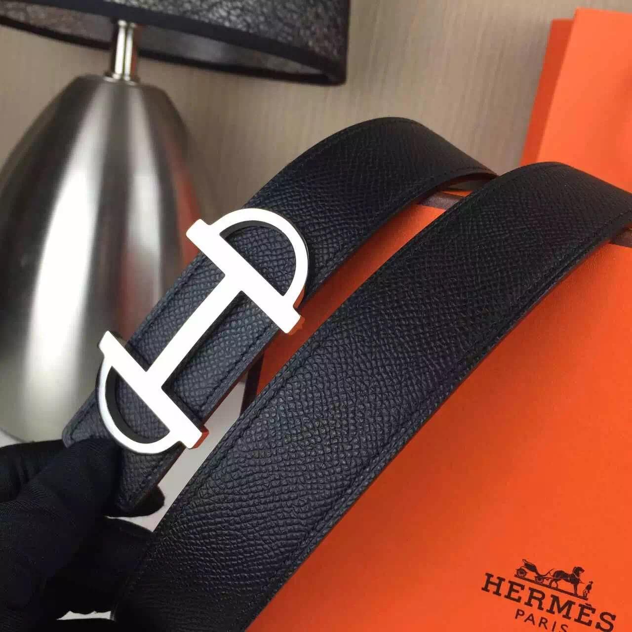 Hermes belt source Fashion style Black palm print