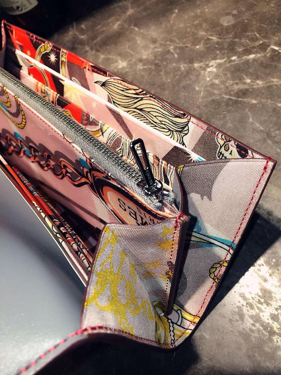 Wholesale Hermes CK18 Etoupe Grey Silk'in Constance Long Wallet Clutch Bag21CM