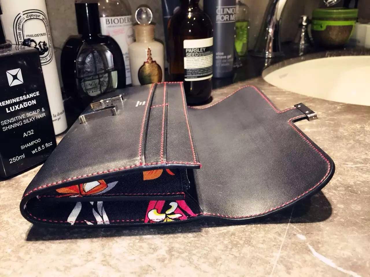 Discount Hermes Silk'in Constance Long Wallet CK89 Black Swift Leather 21CM