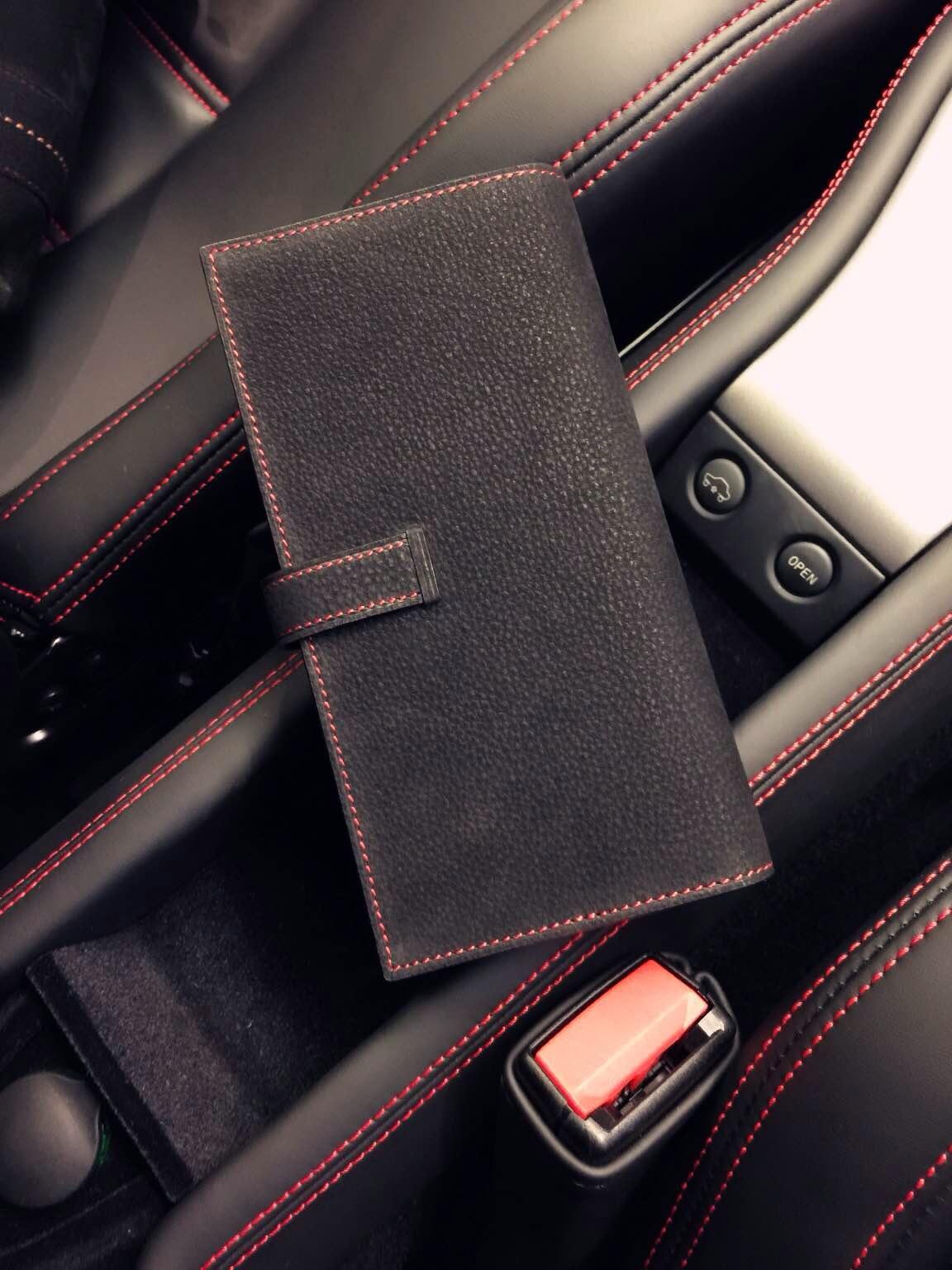 Wholesale Hermes CK89 Black Suede Leather Long Bean Wallet Clutch Bag