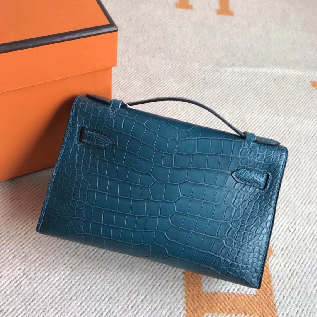 On Sale Hermes Crocodile Leather Minikelly Pochette 22CM Gold Hardware