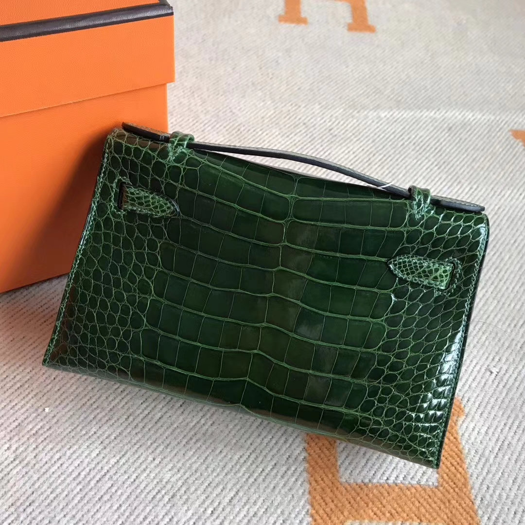 Wholesale Hermes Minikelly Pochette Clutch Bag22cm Crocodile Leather