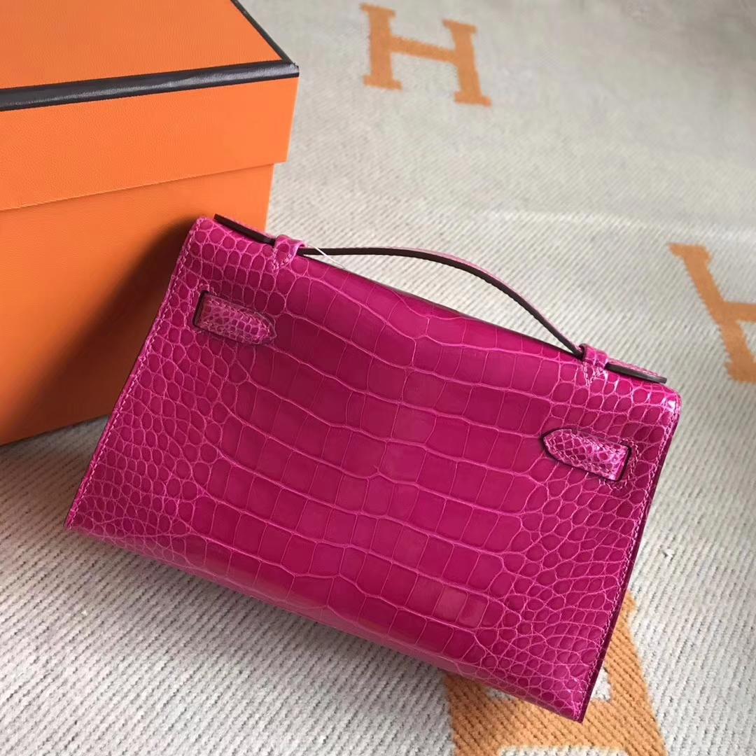 Sale Hermes Minikelly Pochette 22CM in Crocodile Leather Gold Hardware