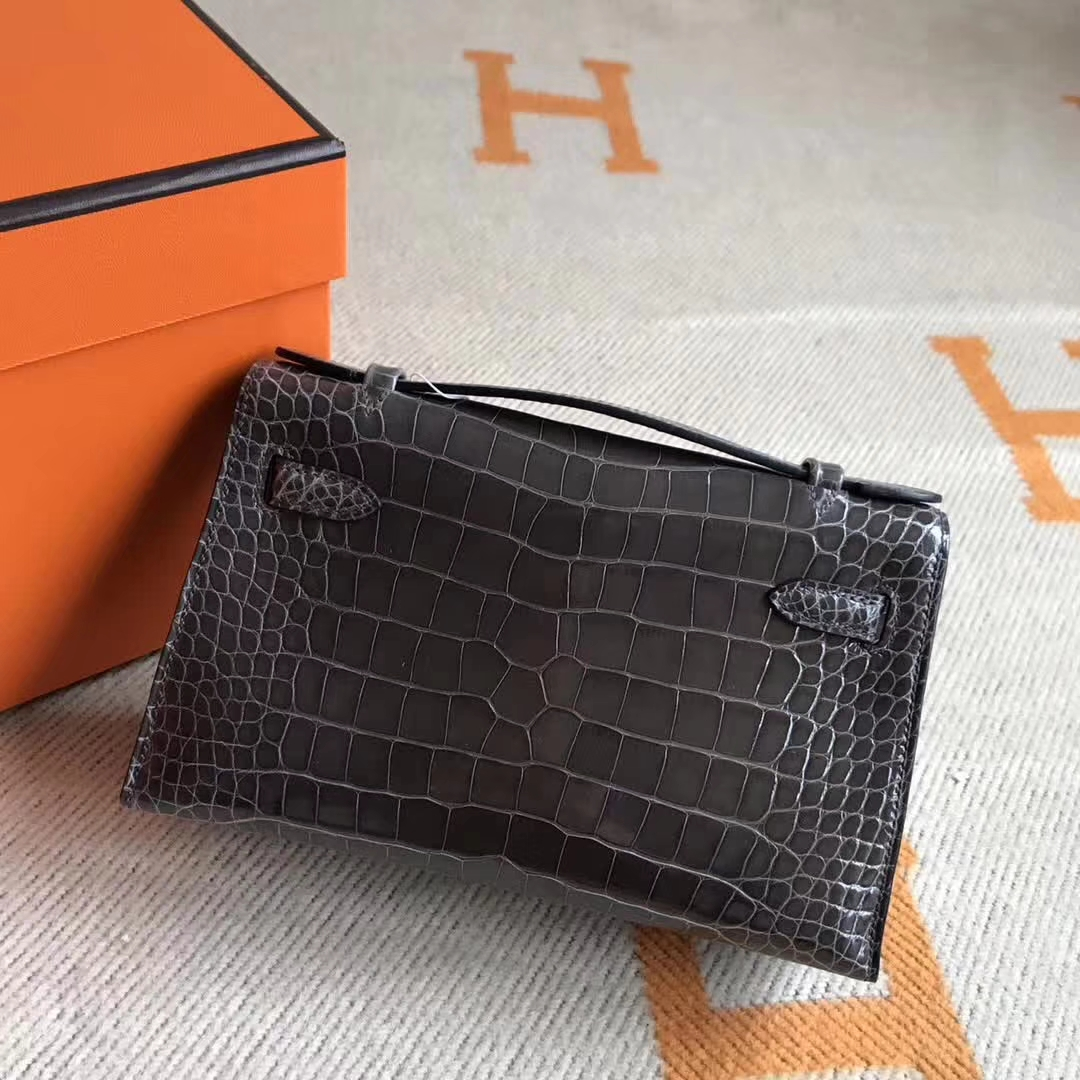 Discount Hermes Minikelly Pochette Evening Clutch Bag Crocodile Leather
