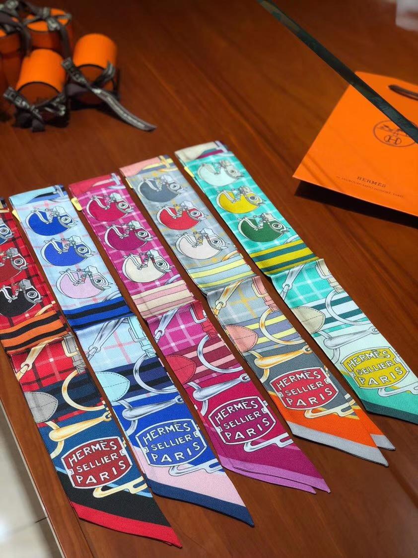 Discount Hermes Twilly Scarf Ribbon 100%Silk Neckerchief 85*5cm