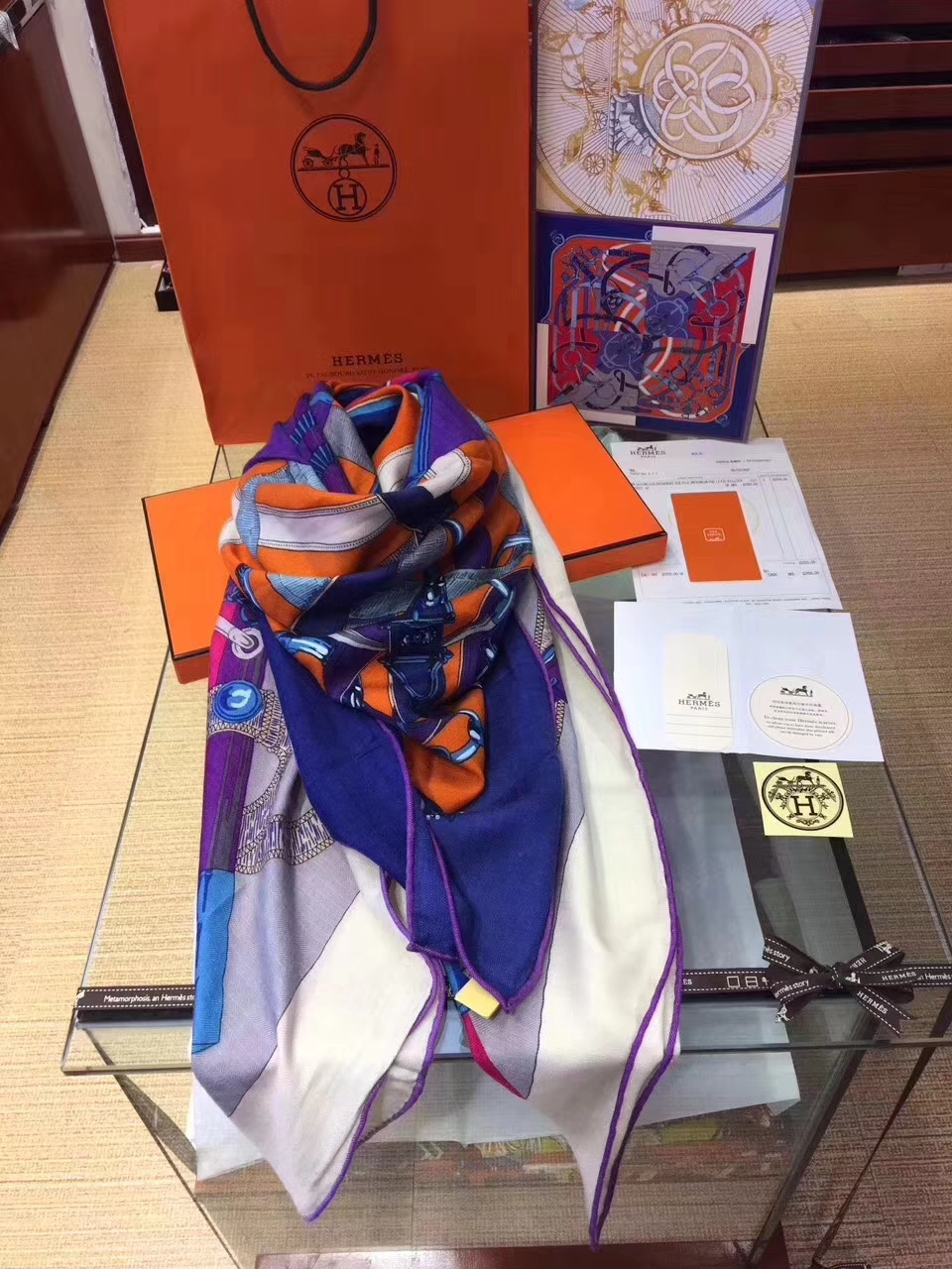 Discount Hermes Cashmere Grade-A Women's Scarf Cape140*140CM