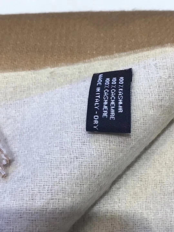 Luxury Hermes Grade-A Camel Cashmere Women's Scarf 70*210CM