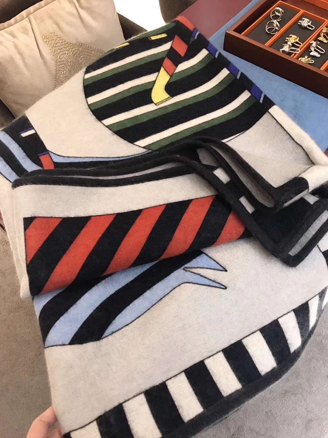"""New Arrival Hermes  """"Double Horse Blanket"""" Cashmere Scarf 150*200cm"""
