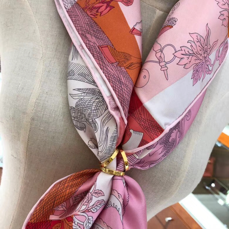 Pretty Hermes《Amazing Animals》100%Silk Women's Scarf 90*90CM