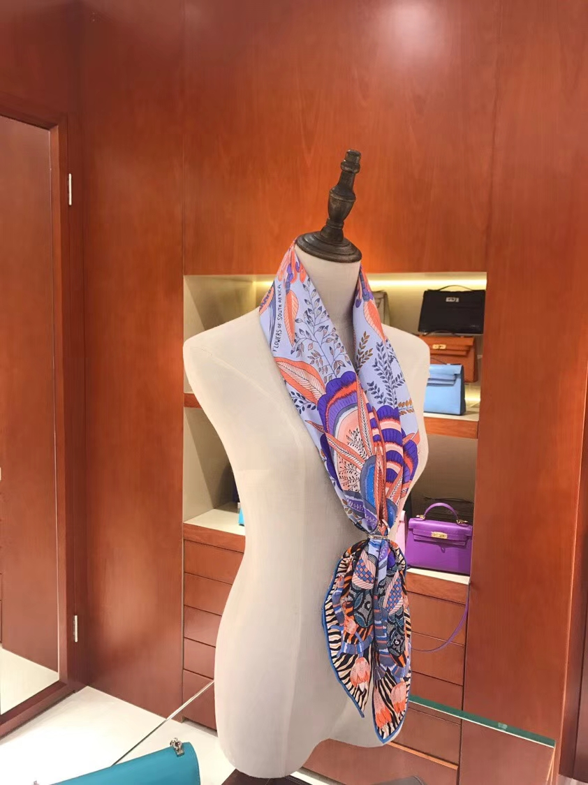 Discount Hermes Blue Real Silk Classic Printed Women's Square Scarf 90*90CM