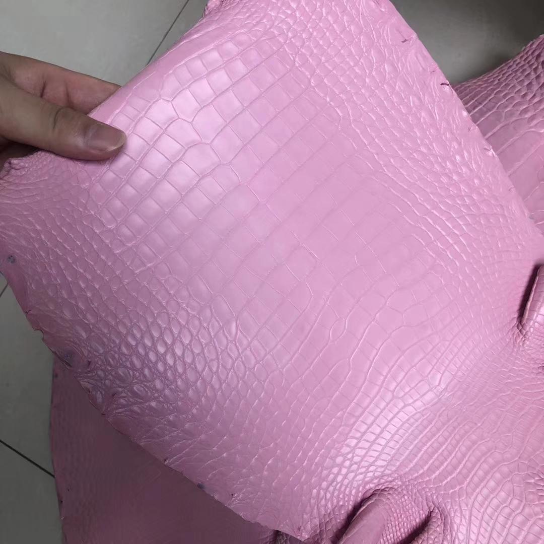 Hermes Minikelly-2 Bag Customization 5P Rose Sakura Alligator Matt CrocodileLeather