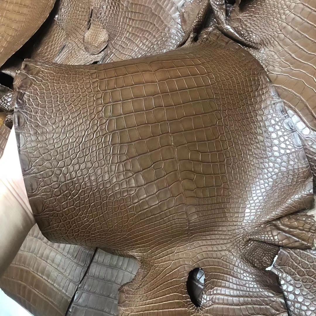 Customization Hermes Minikelly Bag Coffee Color Alligator Matt CrocodileLeather