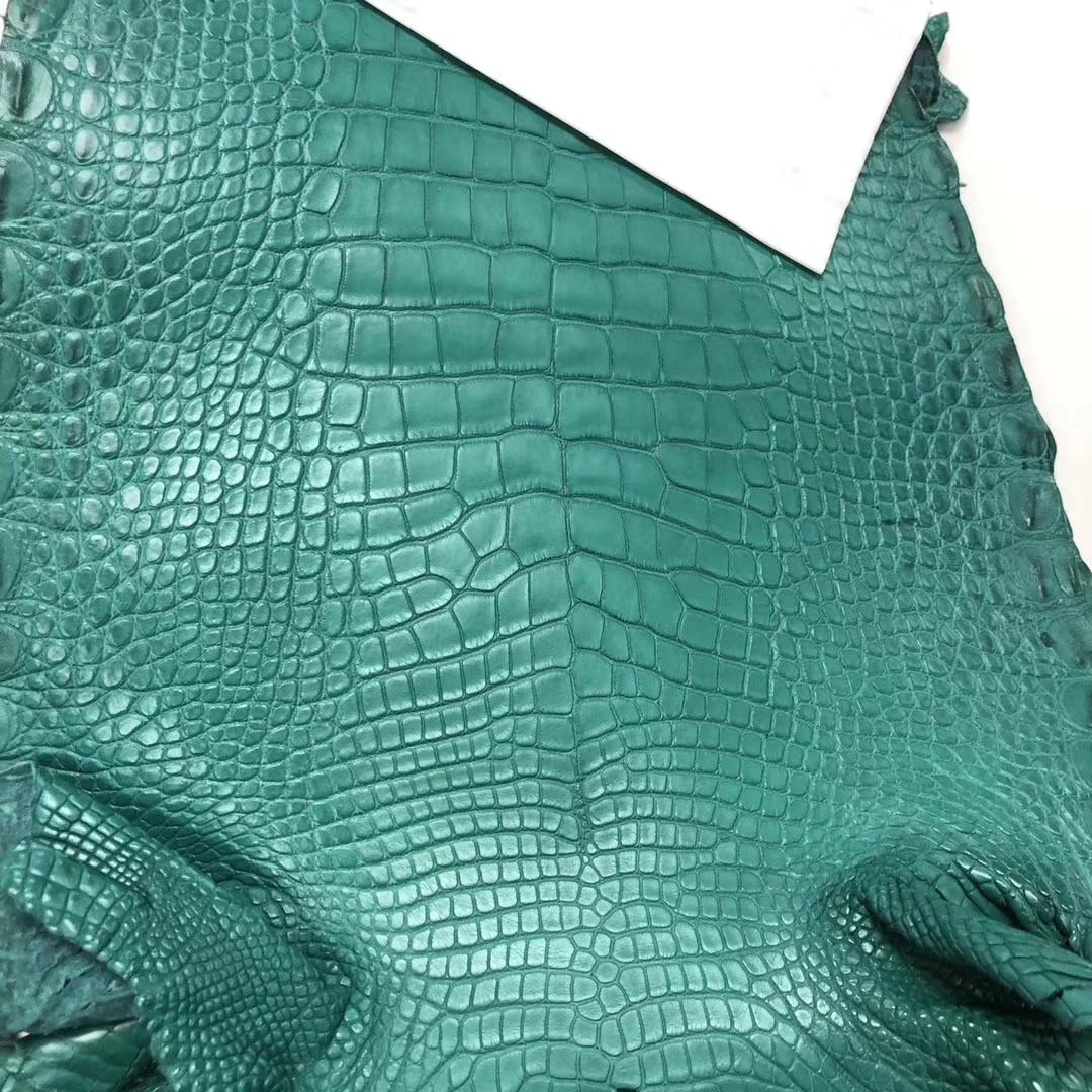 Hermes Minikelly Bag Customization 7F Blue Paon Alligator Matt CrocodileLeather