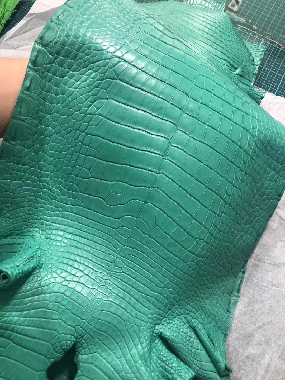 New Hermes Mint Green Alligator Matt CrocodileLeather Minikelly Clutch Bag Customization