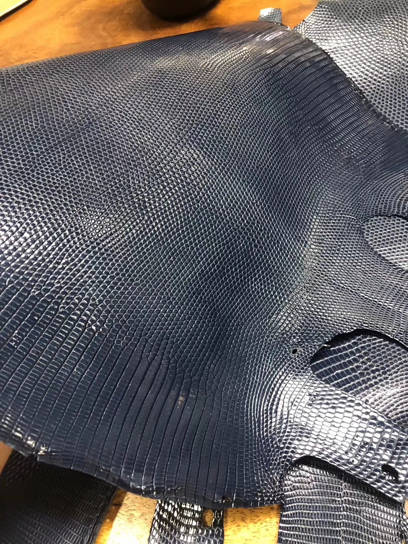 New Hermes Blue Saphir Shiny LizardLeather Can Order Birkin25cm/Kelly25CM