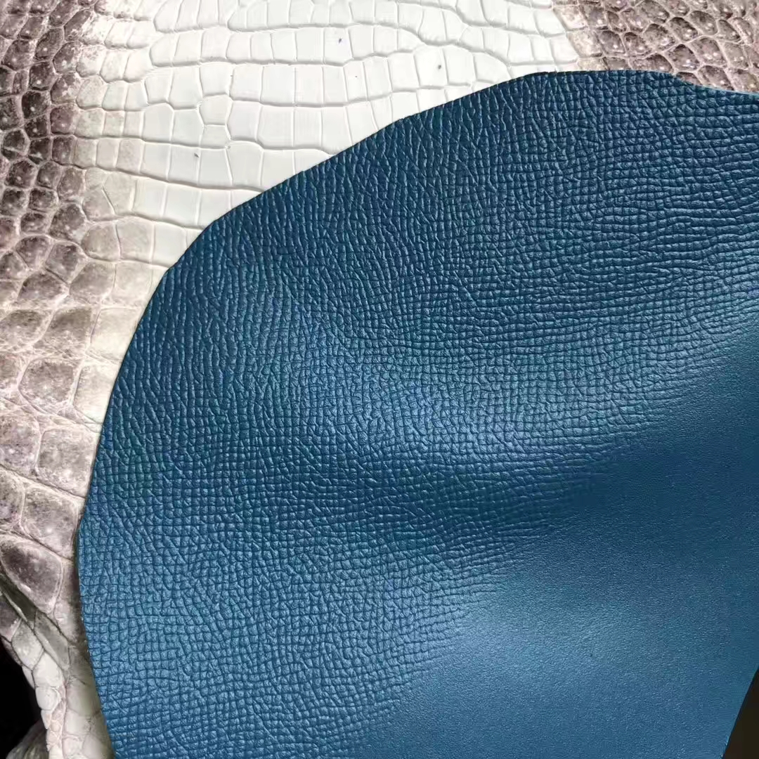 Customize Hermes Bag 2019 New Color Vert Bosphore Epsom CalfLeather