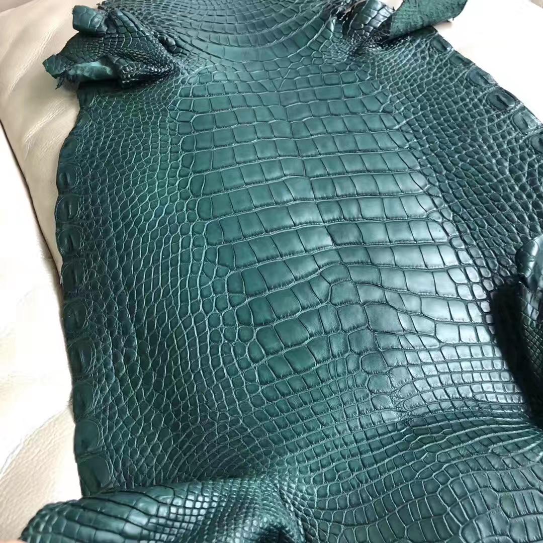 New Arrival Hermes 1L Vert Cacti Alligator Matt Crocodile Leather Minikelly Bag Customize