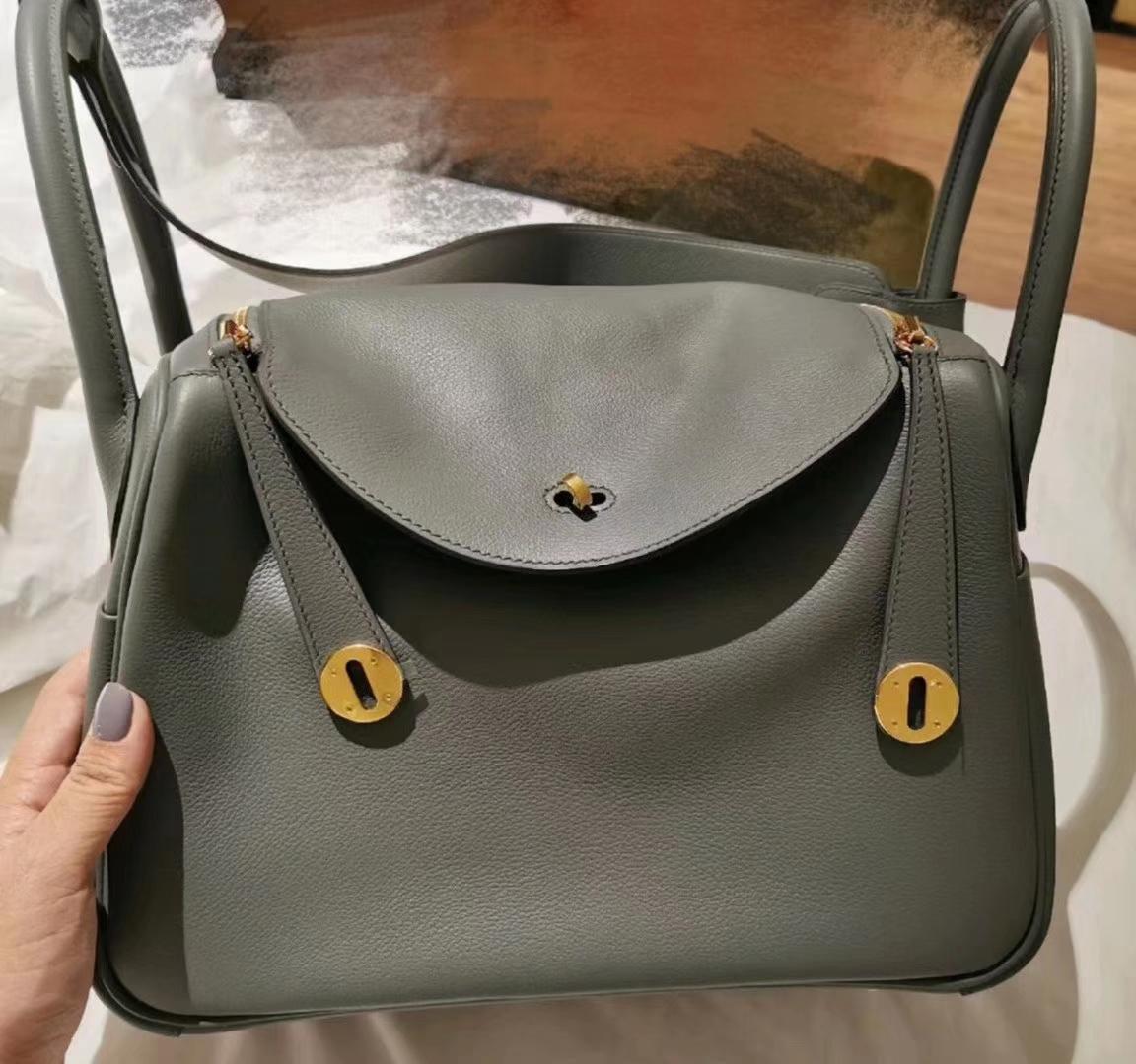 New Arrival Hermes CC63 Vert Amande Togo & Swift CalfLeather Hermes Bags Customize