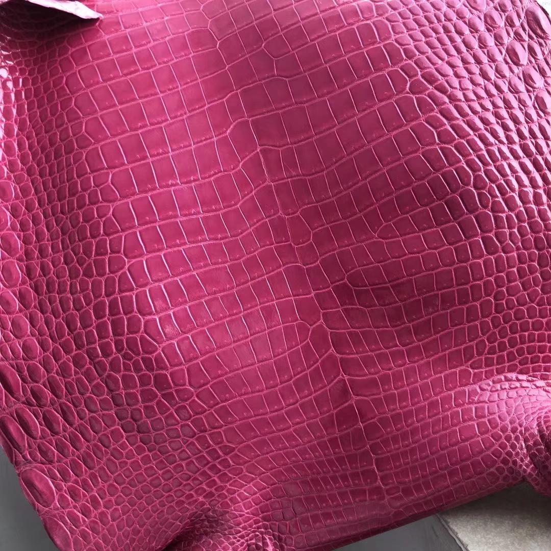 Sale Hermes Hot Pink Shiny Porosus Crocodile Leather Hermes Kelly/Birkin Bags Customize
