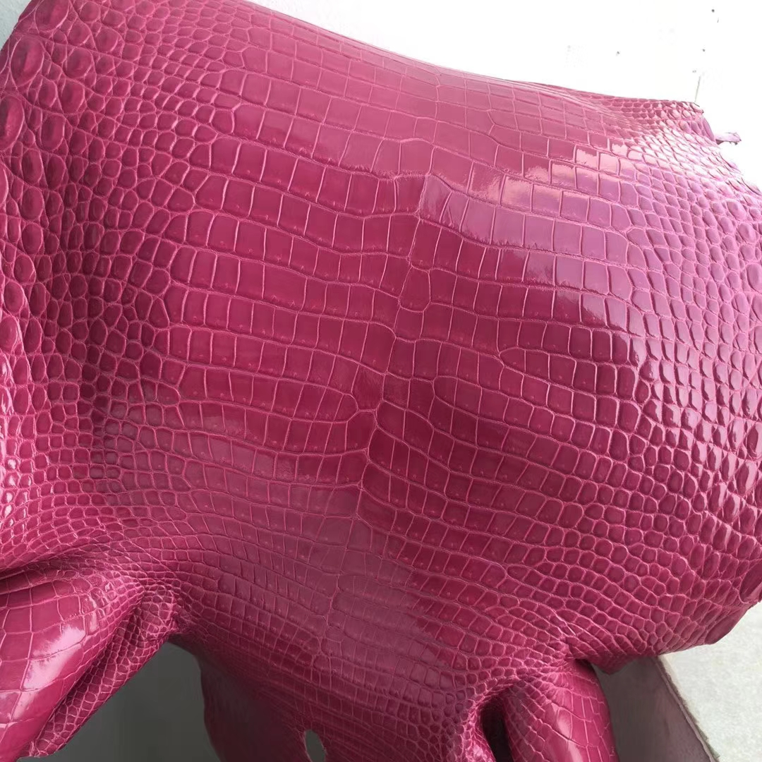 Sale Hermes Hot Pink Shiny Porosus Crocodile Leather Hermes Kelly/Birkin Bags Customize